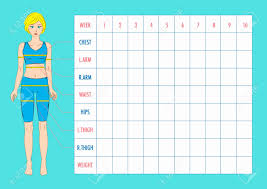 Printable Body Measurement Chart Weight Loss Measurements Chart For Weight Loss Beautiful Male Body