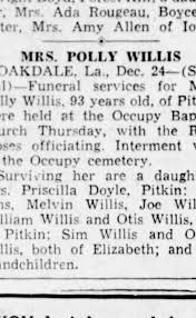 Polly Maricle Funeral Notice - Newspapers.com