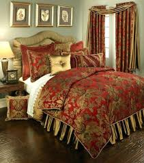 red and brown bedding sets gold comforter black