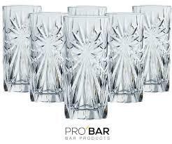 crystal melodia old fashioned glasses set of 6 cocktail glasses pro bar