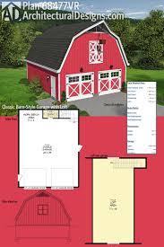 Barn Designs With Loft Plan 68477vr Classic Barn Style Garage With Loft Garage