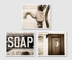 vintage bathroom wall decor. Vintage Sepia Bathroom Wall Decor Prints Or S