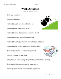 Reading Comprehension Worksheet - What a Great Fall