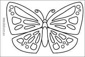 picture of a butterfly to colour. Plain Butterfly Endorsed Butterfly Picture To Colour Butterflies For Kids Drawing At  GetDrawings Com Free On Of A C