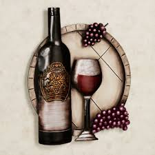 Metal Wall Decor For Kitchen Cellar Reds Wine And Grape Metal Wall Art Wine Wall Art Wine