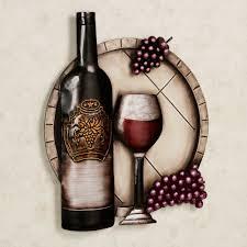 Metal Kitchen Wall Art Decor Cellar Reds Wine And Grape Metal Wall Art Wine Wall Art Wine