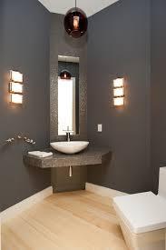 toilet room lighting powder room contemporary with rectangular commode light wood floors rectangular toilet