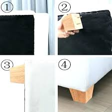 on bed legs couch feet wooden universal sofa leg install no drill hole furniture