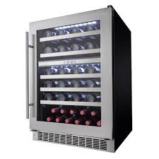 built in dual zone wine cooler. Exellent Wine Silhouette Professional 51Bottle Dual Zone Built In Wine CellarDWC053D1BSSPR   The Home Depot Throughout Cooler