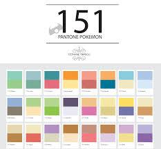 Nice Color Chart Design Inspiration Pokemon Poster