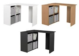 london oak large pedestal home. home calgary 2 shelf corner desk black oak white from argos on london large pedestal home