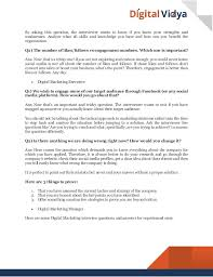 Common Marketing Interview Questions Top 20 Digital Marketing Interview Questions Answers Guide