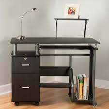 Computer Desk Cabinet Amazoncom Comfort Products Rothmin Computer Desk With Storage