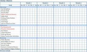 Kids Chore Template Sample Kids Chore Chart Template 8 Free