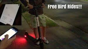 How Youtube Unlimited for Rides Free To Scooter Get A Bird Hack rvnrwCqFT