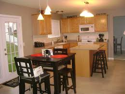 Kitchen Table Lighting Kitchen Island With Table Attached Captivating Kitchen Island