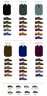 Suit Shoe Color Matching Chart In 2019 Suit Shoes Mens