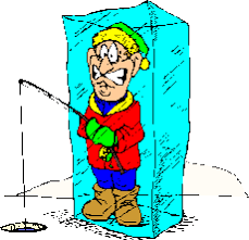Image result for ice fishing cartoon