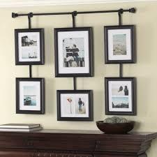 6 piece black hanging wall photo