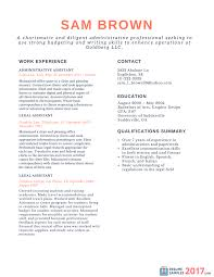 Finest Chronological Resume Samples On The Web 2017 How To Write A S