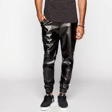 elwood faux leather jogger pants