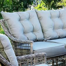 4pcs outdoor round rattan sofa set