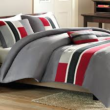 striped comforter sets queen pipeline full queen comforter set red free throughout and gray sets striped comforter