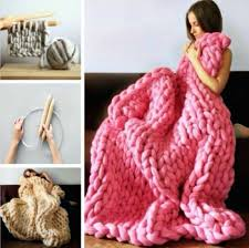 Chunky Knit Blanket Pattern Best Chunky Knit Blanket Pattern Yarn Video Tutorial DIY