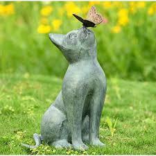 cat garden statue. Curiosity Cat Garden Sculpture Statue A
