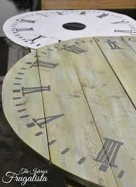 pallet wood clock painted numbersw