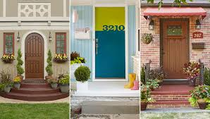 three styles of front doors and front entries