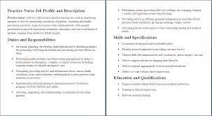 Nurse Job Description Sample