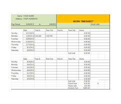 timecard hours 40 free timesheet time card templates template lab