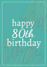 Customize 30 80th Birthday Card Templates In Minutes