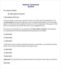 Sample Retainer Agreement Template