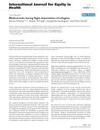 Medical Risks During Flight Deportation Of Refugees Topic Of