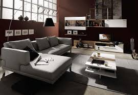 trendy living room furniture layout with sectional gray sofa design plus wall mounted storage unit and beautiful sofa living room 1 contemporary