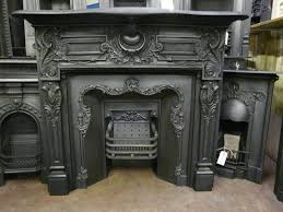 antique metal fireplace surround cast iron
