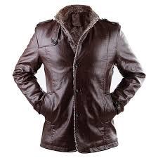 men leather jacket winter jackets and coats thickening wool windbreak warm jaquetas de couro coat plus