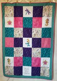 twin size quilt.  Twin Mermaid Baby Quilt Girl Twin Size Quilt Crib Bedding To Size Quilt E