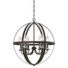 stella mira 6 light oil rubbed bronze with highlights outdoor hanging chandelier