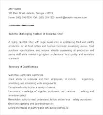 Sample Cook Cv Template. Sample Resume Line Cook Duties For A Pantry ...