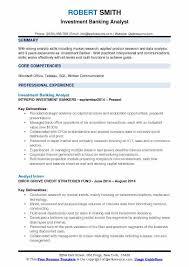 Investment Banking Analyst Resume Amazing Investment Banking Analyst Resume Samples QwikResume