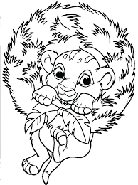 coloring pages simba coloring pages baby the lion king page printable me
