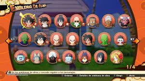 Emblemas del Alma en Dragon Ball Z: Kakarot, cómo conseguir todos -  MeriStation