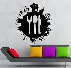 Small Picture Wall Stickers Food Kitchen Restaurant Cafe Cutlery Mural Vinyl