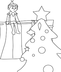 free print elf on a shelf coloring pages printable