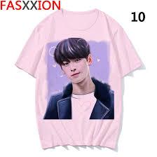 new blouse tops <b>t</b>-<b>shirt</b> Astro summer <b>Cartoon</b> print Cha EunWoo ...