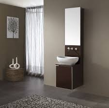 grey and white small bathrooms. bathroom: appealing small bathroom floating vanity with vessel sink and tall mirror - grey white bathrooms