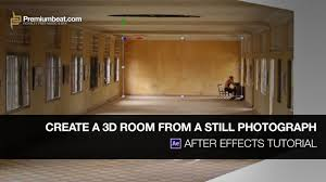 After Effects Tutorial: Create a 3D Room From a Still Photograph - YouTube